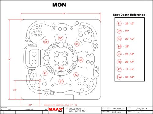 Vita Spas Monarque Seating Depth Chart